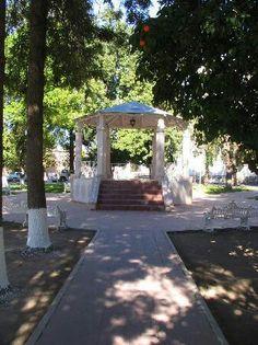 La plaza de Banamichi Son. Mx.