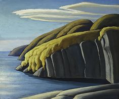 North Shore, Lake Superior, by Lawren Harris Oil on board, x cm, Canadian Group of Seven Emily Carr, Group Of Seven Artists, Group Of Seven Paintings, Canadian Painters, Canadian Artists, Landscape Art, Landscape Paintings, Tom Thomson Paintings, Artist Brush