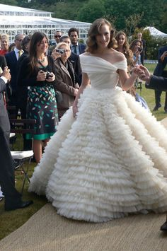shoe designer charlotte olympia (dellal) wore giambattista valli to tie the knot. damn, girl.