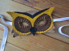 Owl Felt Mask Realistic Animal Costume Mask by FolkOfTheWoodCrafts, $20.00