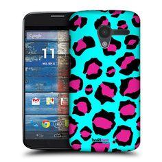 Head Case Cyan Leopard Mad Print Protective Back Case Cover for Motorola Moto X | eBay