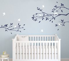 Wall Decals for Nursery Baby Room Designs Tree Branch with birds Wall Sticker Decals Home Decor Art by DecalIsland -  Tree Branch SD 019