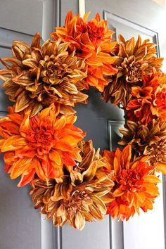 Easy Fall Wreath in 5 Minutes