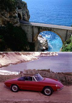 Sorrento to Salerno, Italy in a 1967 Alfa Romeo Spider Duetto