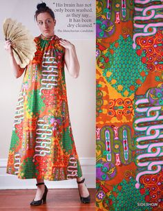 VTG 60's Tori Richard Abstract Print Hawaiian Tent Maxi Dress by sideshowsam, $225.00