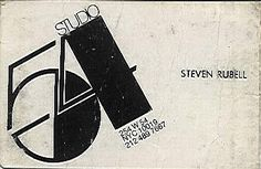 Steve Rubell's business card.