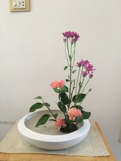 My flower arrangement of Ikebana