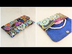 Fabric Wallet, Sunglasses Case, Coin Purse, Purses, Sewing, Bags, Youtube, Projects, Fashion