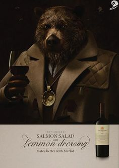 BRONZE - CAMPAIGN AWARD - CANNES LIONS  Bear MP WINES / BODEGAS SALENTEIN NIŃA 2015  PRESS  PRODUCT & SERVICE  ALCOHOLIC DRINKS Entered by: NIŃA