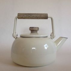 Minimalist white enamel kettle by FlowersAndSkin on Etsy https://www.etsy.com/listing/244004460/minimalist-white-enamel-kettle