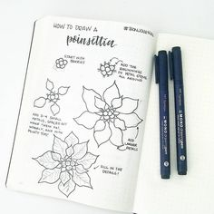 3,856 vind-ik-leuks, 6 reacties - Tombow USA (@tombowusa) op Instagram: 'Want to learn how to draw a poinsettia? Our Brand Ambassador @bonjournal_ created a step-by-step…'