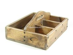 Wooden Ottoman Caddy Wood Tote Wooden 4 Compartment Tray Caddy with Handle