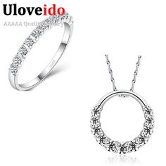 Find More Jewelry Sets Information about 50% off 925 Sterling Silver Cheap Fashion Wedding Jewelry Sets for Brides Necklace Ring Set Crystal Jewellery Set Ulove DML02,High Quality set hand,China set dish Suppliers, Cheap set double from ULOVE Fashion Jewelry on Aliexpress.com