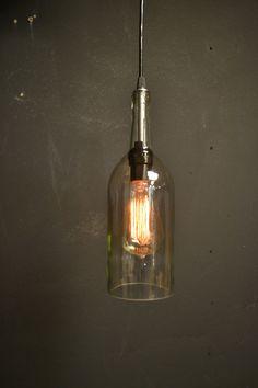 Luminaire de bar de vin lumière bouteille de par UnionHilIronWorks