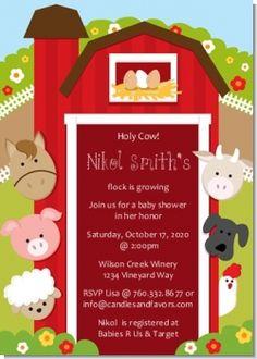 Farm baby shower invite