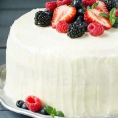 This recipe for berry chantilly cake is a light and yellow cake with plenty of fresh berries and a unique fluffy whipped cream frosting. The perfect cake for a celebration! Baking Recipes, Cake Recipes, Dessert Recipes, Fun Recipes, Baking Ideas, Dinner Recipes, Just Desserts, Delicious Desserts, Spring Desserts