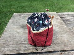 Small  KNITTING / CROCHET  Project Bag by StitchedNaturally, $30.00