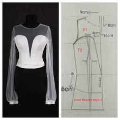T Shirt Sewing Pattern, Dress Sewing Patterns, Blouse Patterns, Clothing Patterns, Sewing Blouses, Sewing Shirts, Fashion Sewing, Diy Fashion, Fashion Outfits