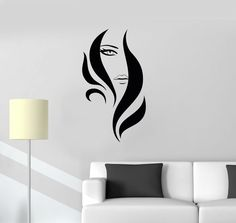 Vinyl Decal Beauty Salon Woman Stylist Hair Barbershop Wall Stickers (085ig) #Wallstickers4you #VinylArt