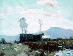 """House on the Ridge"" -  Chauncey F. Ryder / American Art"