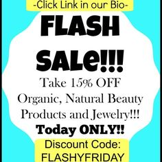 Flash sale today only!! Discount code: FLASHYFRIDAY  Only at BlueBlossomShop.com #organic #natural #bblogger #beauty #sale #jewelry #nature #shop