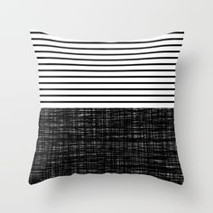 FREE SHIPPING ends tonight at Midnight PST! | platno (black stripes) Throw Pillow by Trebam - $20.00