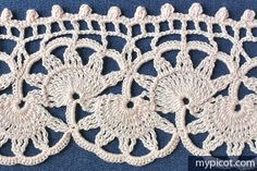 MyPicot | Free crochet patterns | New! ANTIQUE SHELL EDGING 5/12/15 | (1 of 3)  //  WOW!!! A