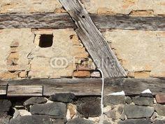 Traditionelles altes Fachwerk in Großauheim am Main bei Hanau in Hessen