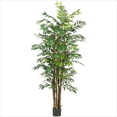 Nearly Natural 7' Bamboo Palm Silk Tree in Green - 5250