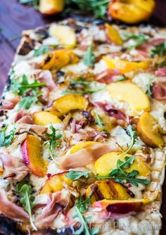 Grilled Peach and Prosciutto Pizza | Mariah's Pleasing Plates