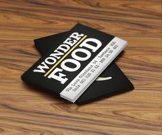 Back business card. Customer: Wonder Food. Graphic designer: Domenico Tafuro.