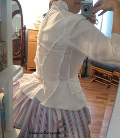 Fitting a Victorian Bodice on Yourself [video] | HistoricalSewing.com