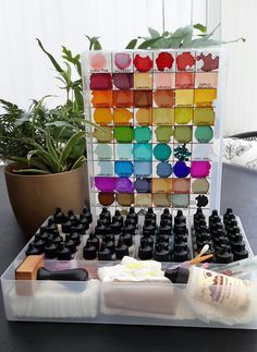 I thought I'd share my alcohol storage and colour chart in case it helps anyone. Firstly I use Ranger's Adirondack alcohol inks a...