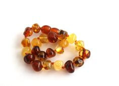 Baltic Amber Bracelet. Multicolored