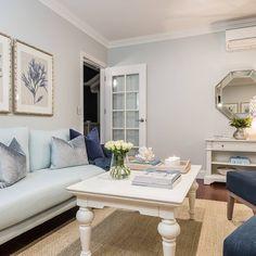 Walls: Dulux Terrace White Dulux Paint Colours Grey, Dulux White Paint, Home Paint Colour, Cottage Paint Colors, Interior Paint Colors, Interior Design, Grey And White Room, Off White Walls, White Rooms