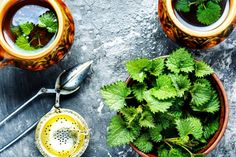 Sok z pokrzywy Herbal Tea, Pesto, Herbalism, Tea Cups, Photo Editing, Stock Photos, Fresh, Healthy, Herbal Medicine