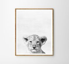 Baby Lion Nursery Animal Kids room Modern art от WallArt2Decor