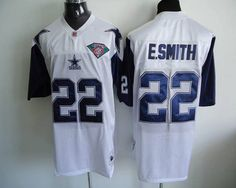 Mitchell and Ness Dallas Cowboys 22 Emmitt Smith White Stitched Throwback NFL Jersey:$21