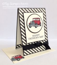 Guy Greetings, Typeset DSP, Father's Day card #MyStampinHaven #StampinUp