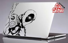 Deadpool Macbook Air Pro Decal Sticker by FunDecalFactory on Etsy decals stickers mac vinyl marvel