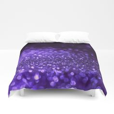 Buy Pantone Color 2018 Ultra Violett Purple Glitter Duvet Cover bedroom bedding by betterhome. Worldwide shipping available at Society6.com. Just one of millions of high quality products available. #home #homedecor