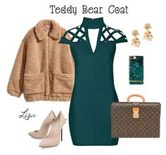 """""""Me in my teddy bear coat"""" by coolmommy44 ❤ liked on Polyvore featuring H&M, Rare London, Casadei, Louis Vuitton, Oscar de la Renta, polyvoreeditorial, polyvorecontest and teddybearcoats"""