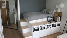 Ikea hack: platform bed met extra opbergruimte - Roomed | roomed.nl