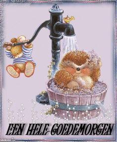 Hedgehog bath under the water pump Hedgehog Art, Cute Hedgehog, Tatty Teddy, Animals And Pets, Cute Animals, Cute Animal Illustration, Clipart, Vintage Images, Cute Art