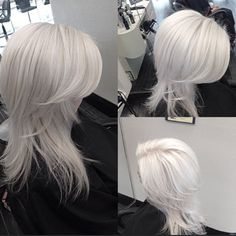 platinum / white blonde hair