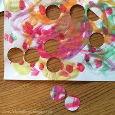 Upcycling - dekorative Wandkunst aus Kindermalereien