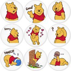 Winnie Poo, Cute Winnie The Pooh, Winnie The Pooh Birthday, Korean Stickers, Free Printable Stationery, Disney Scrapbook Pages, Cute Disney Wallpaper, Craft Stickers, Disney Junior