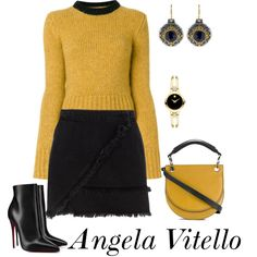 A fashion look from December 2017 by angela-vitello featuring Marni, River Island, Christian Louboutin, Movado i Konstantino
