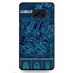 R2D2 Blue Print TATUM-9083 Samsung Phonecase Cover For Samsung Galaxy Note 7