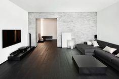 Afbeeldingsresultaat voor woonkamer donkerbruine vloer